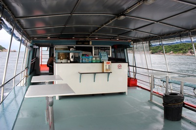 second level on the dive boat